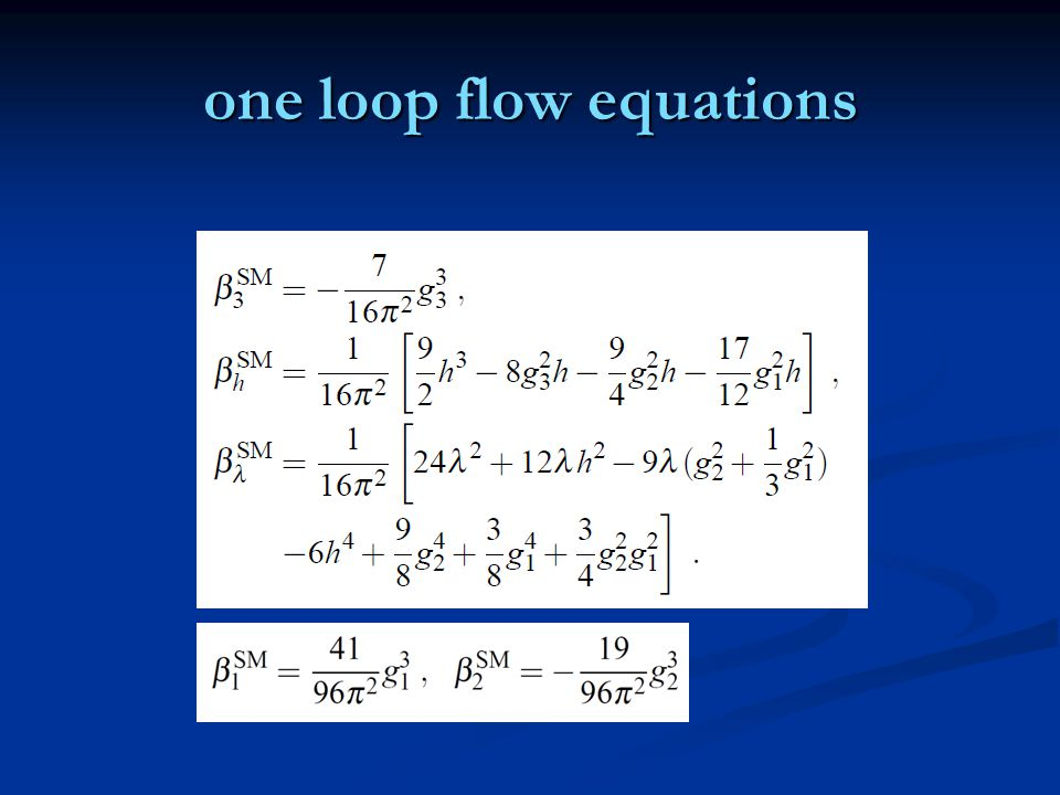 one loop flow equations