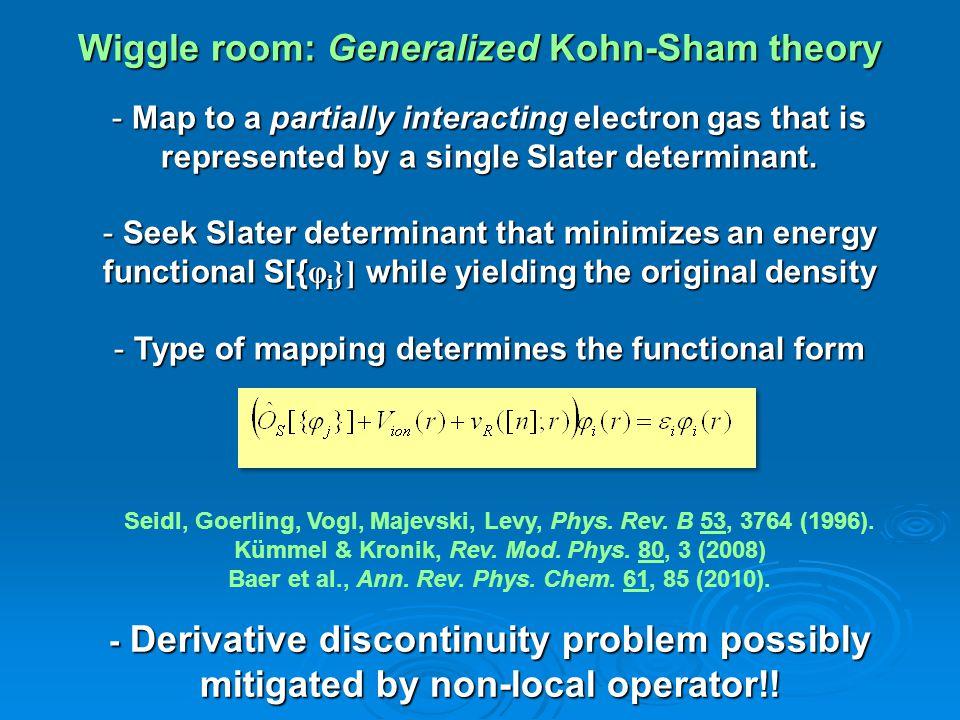 Wiggle room: Generalized Kohn-Sham theory Seidl, Goerling, Vogl, Majevski, Levy, Phys.