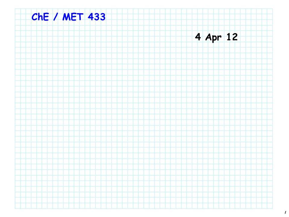 1 ChE / MET 433 4 Apr 12