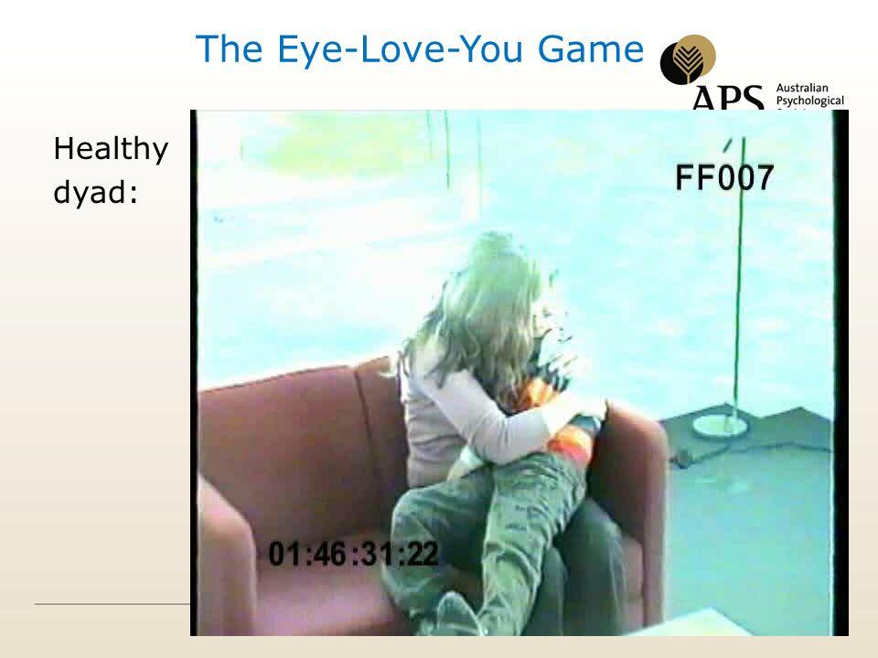 Healthy dyad: The Eye-Love-You Game