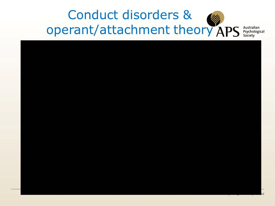 Conduct disorders & operant/attachment theory