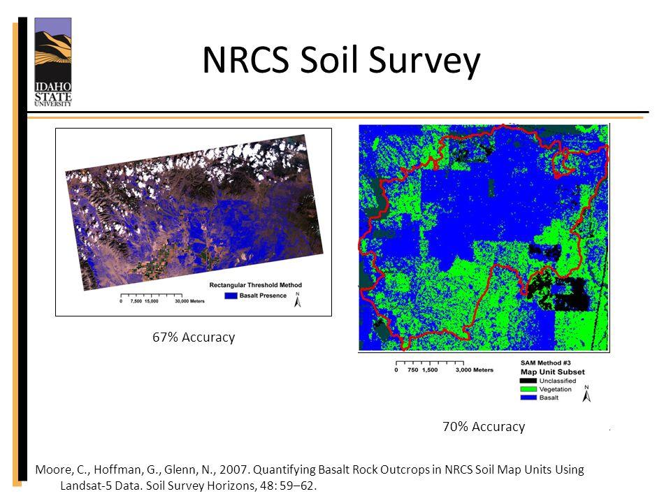 NRCS Soil Survey Moore, C., Hoffman, G., Glenn, N., 2007.