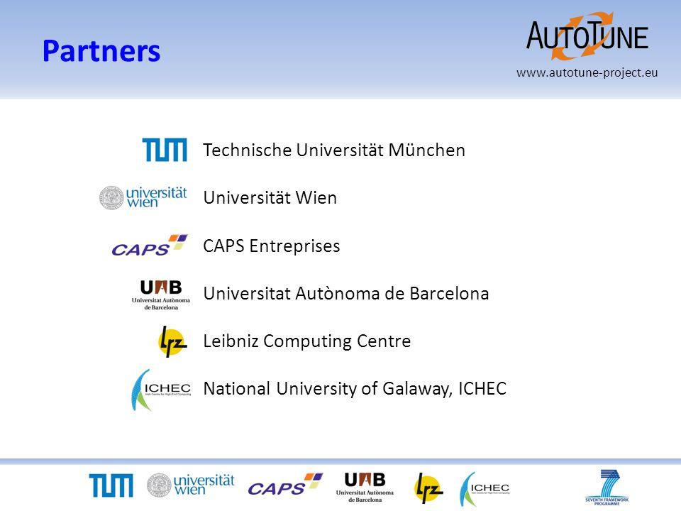 www.autotune-project.eu Partners Technische Universität München Universität Wien CAPS Entreprises Universitat Autònoma de Barcelona Leibniz Computing Centre National University of Galaway, ICHEC