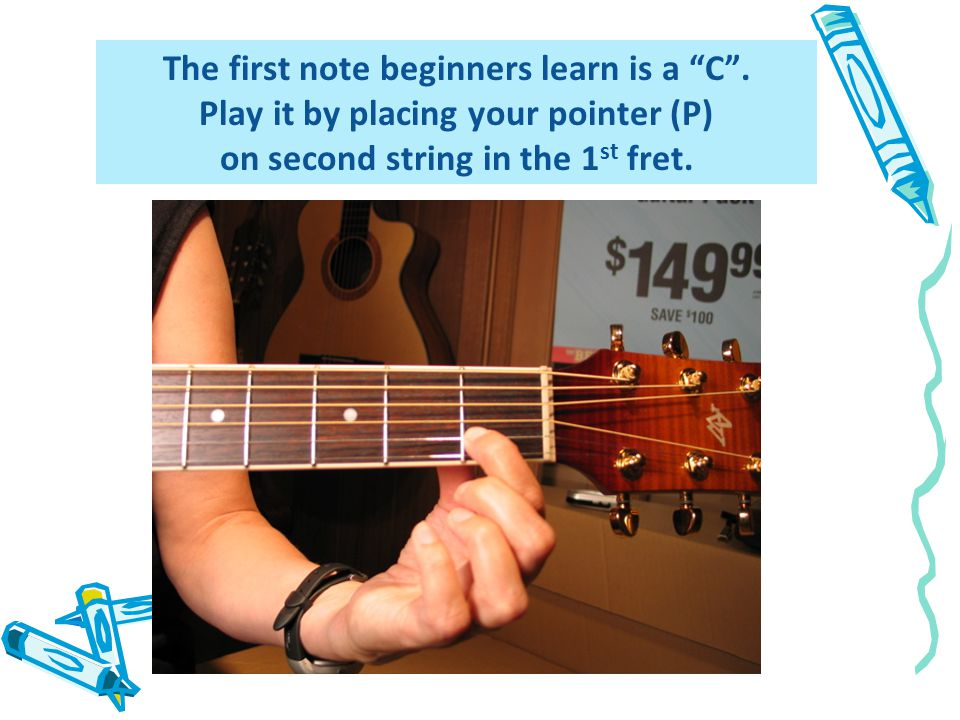 The first note beginners learn is a C.