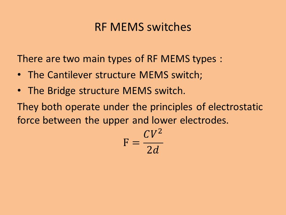 RF MEMS switches