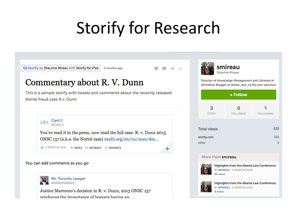 Storify for Research