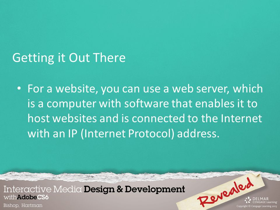 For a website, you can use a web server, which is a computer with software that enables it to host websites and is connected to the Internet with an IP (Internet Protocol) address.