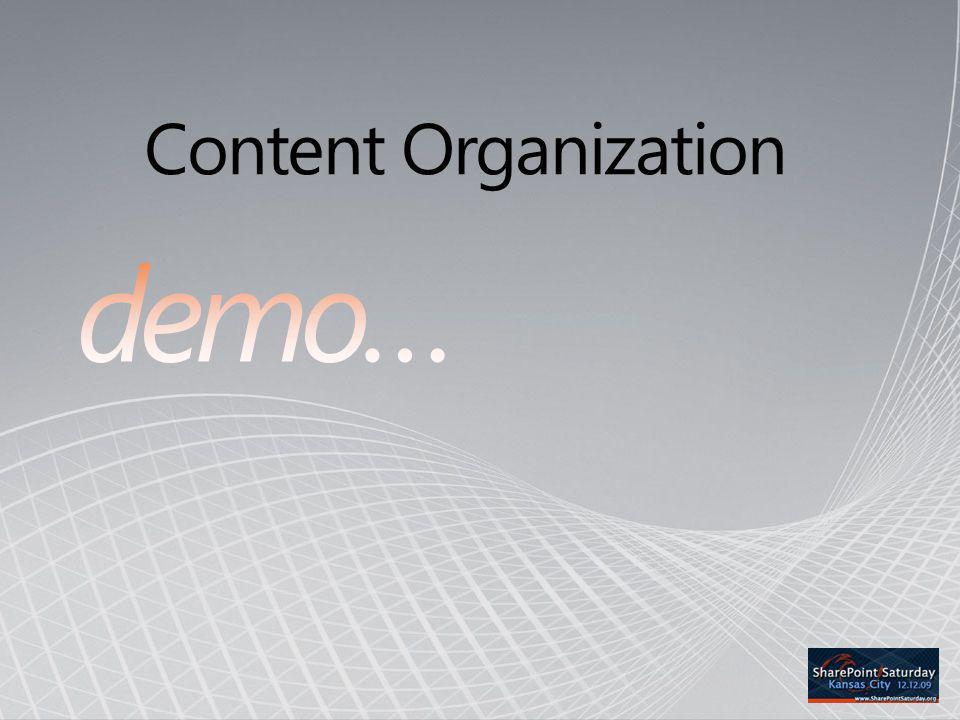 Content Organization