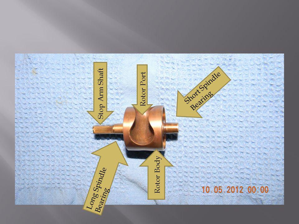 Long Spindle Bearing Short Spindle Bearing Rotor Port Rotor Body Stop Arm Shaft