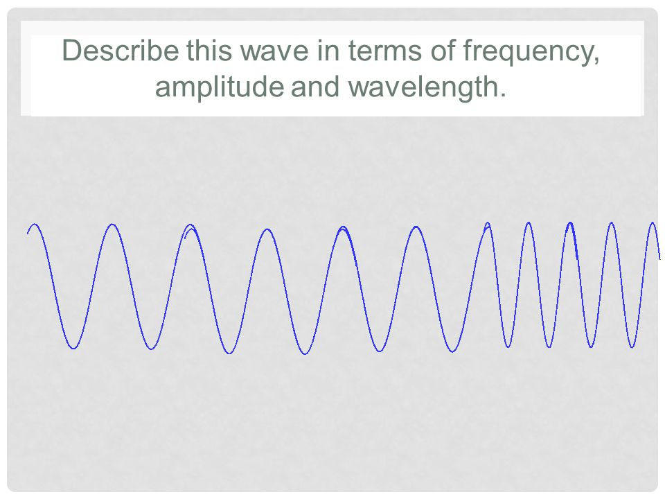 Describe this wave in terms of frequency, amplitude and wavelength.