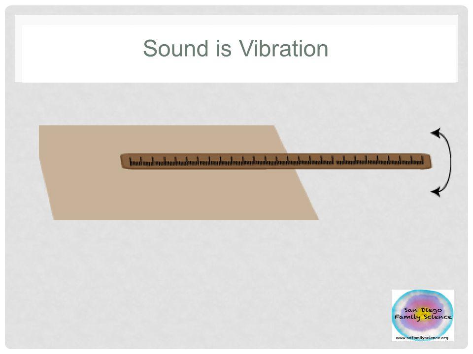 Sound is Vibration