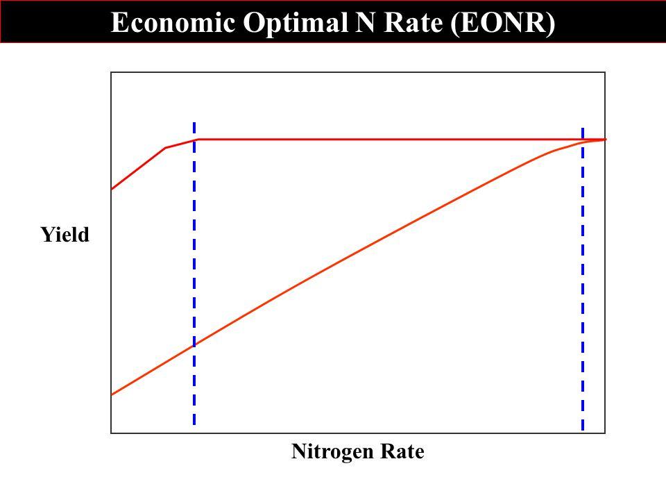 Oran00 Rep1 Block6 0 4 8 12 16 0100200300 N rate (kg ha -1 ) Yield (Mg ha -1 ) N opt Oran00 Rep3 Block26 0 4 8 12 16 0 100200 300 N rate (kg ha -1 ) Yield (Mg ha -1 ) N opt Economic Optimum Nitrogen Rate
