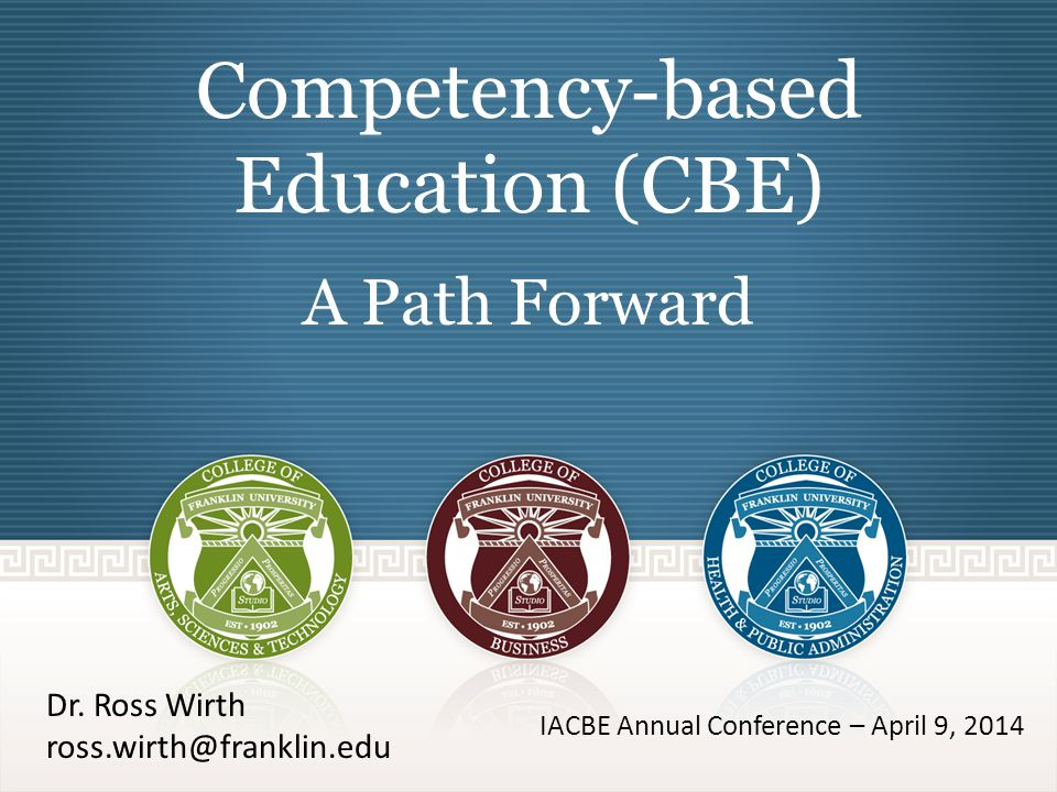 Best Practices Successful ideas becoming common in CBE programs – Competencies grouped into self-paced courses Students are challenged at their level of knowledge and progress Competency report to complement the transcript – All-you-can-learn subscription model (monthly?) Difficult to integrate with other term based modalities – Single-train course sequence (also an advising model) – Adaptive learning to recognize prior learning (text included) – Authentic assessment Projects & portfolios – Extensive student support system Advisors & LMS tracking 22