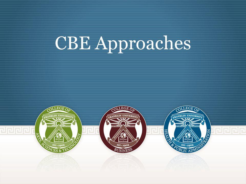 CBE Approaches