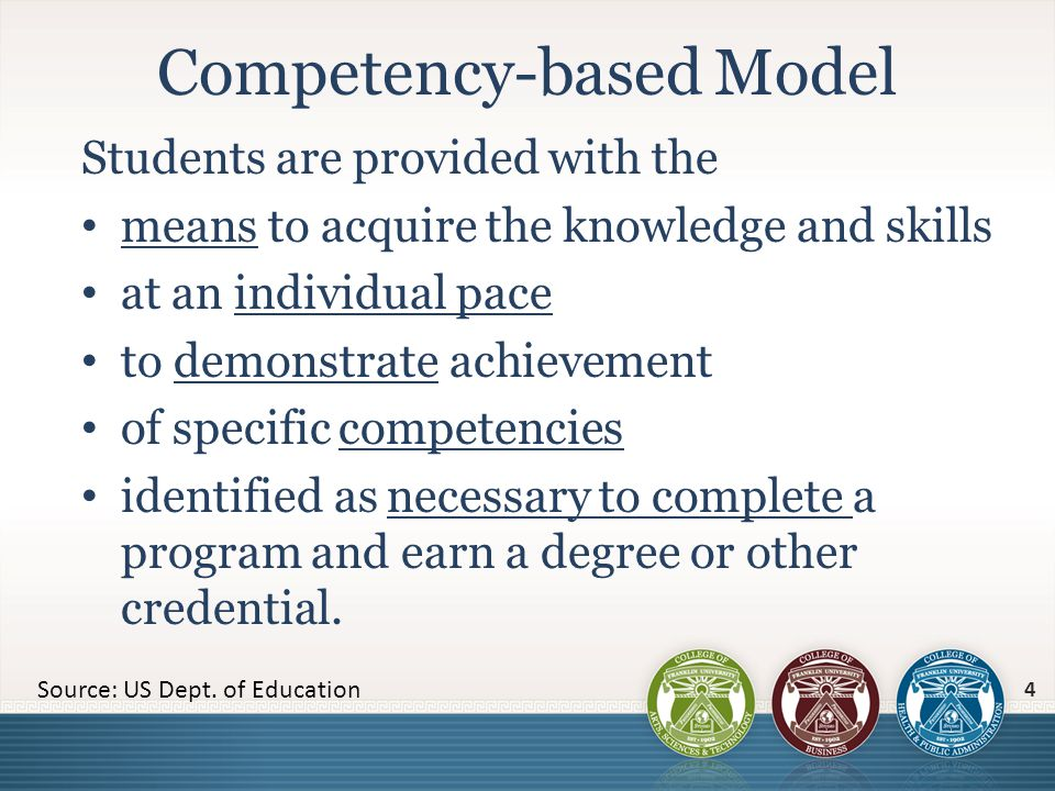 What competencies are required of all graduates.(Gen.