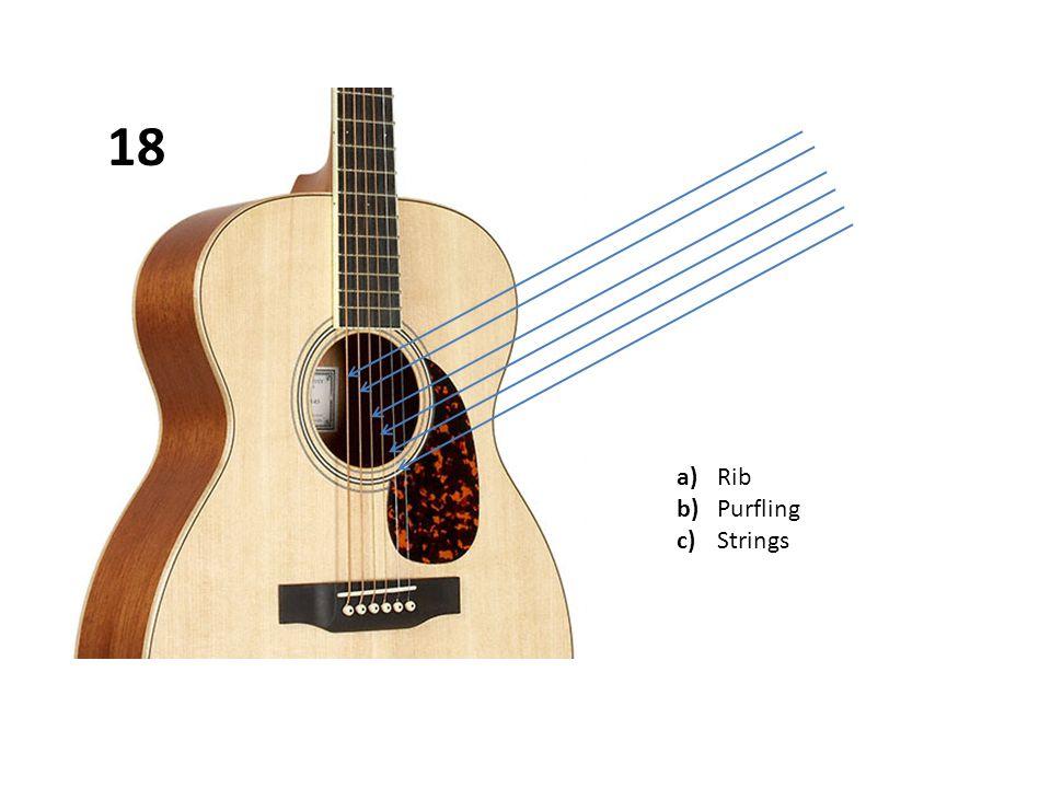a)Rib b)Purfling c)Strings 18