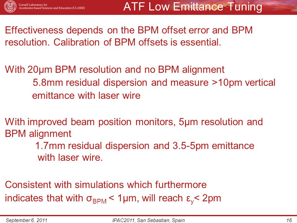 ATF Low Emittance Tuning Effectiveness depends on the BPM offset error and BPM resolution.