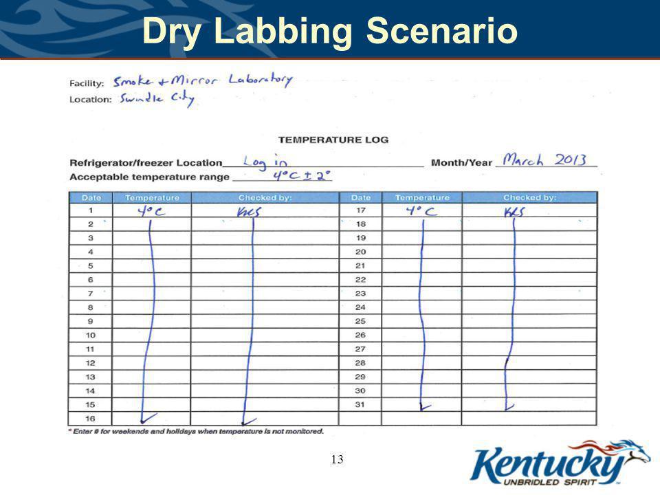Dry Labbing Scenario 13