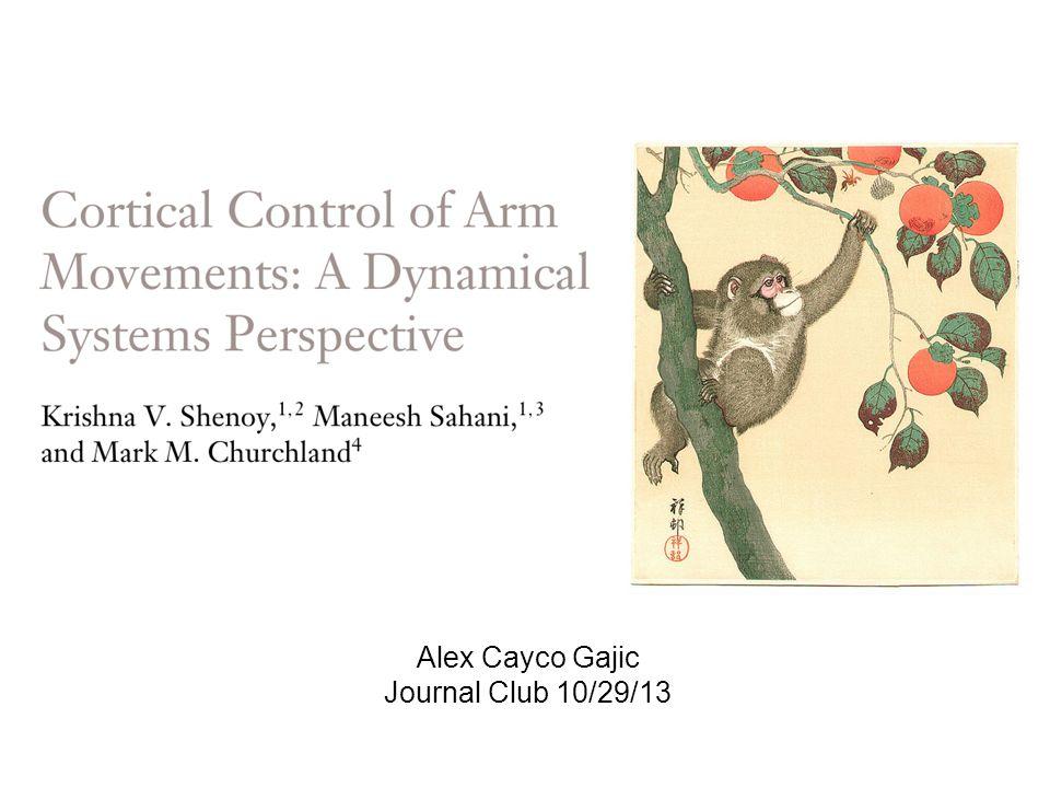 Alex Cayco Gajic Journal Club 10/29/13