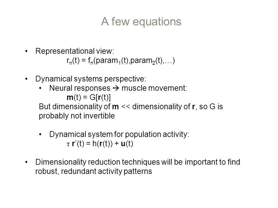 Neural population responses are rotational Churchland et al. 2012