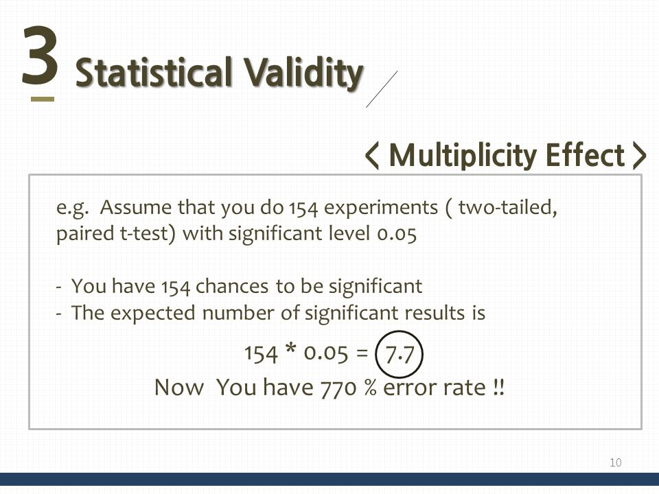 3 Statistical Validity e.g.