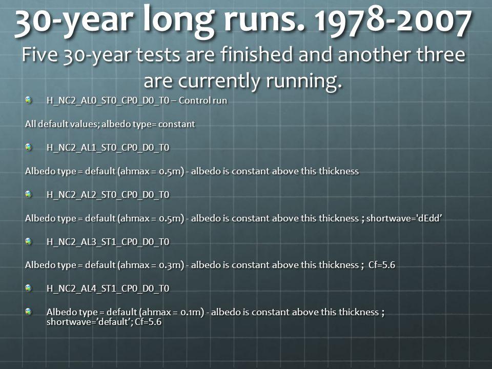 30-year long runs.