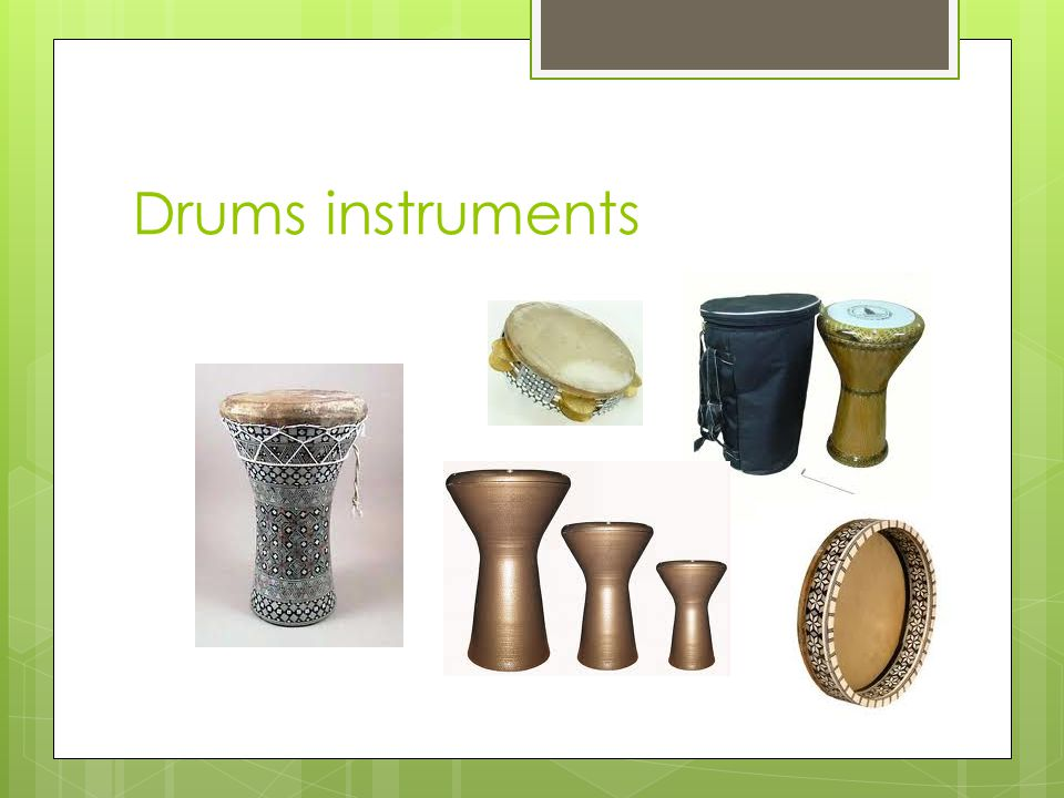 Drums instruments
