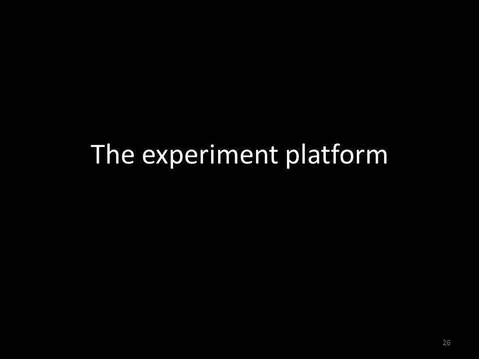 The experiment platform 26