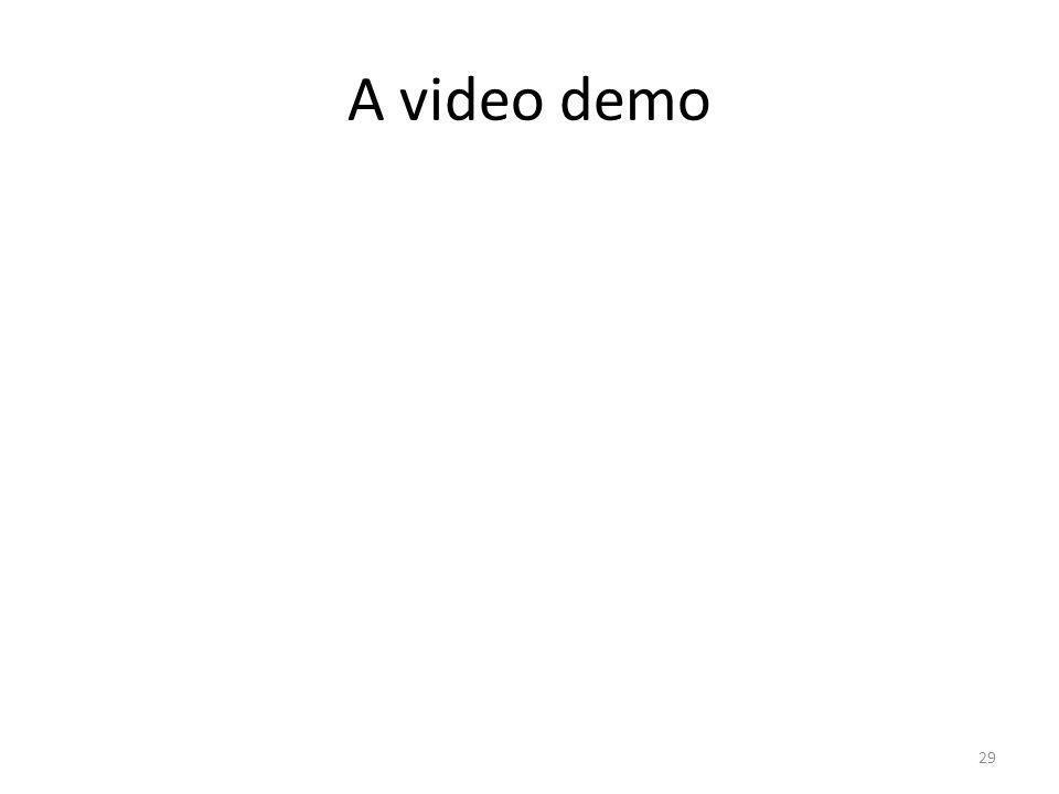 A video demo 29