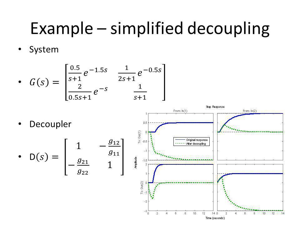 Example – simplified decoupling