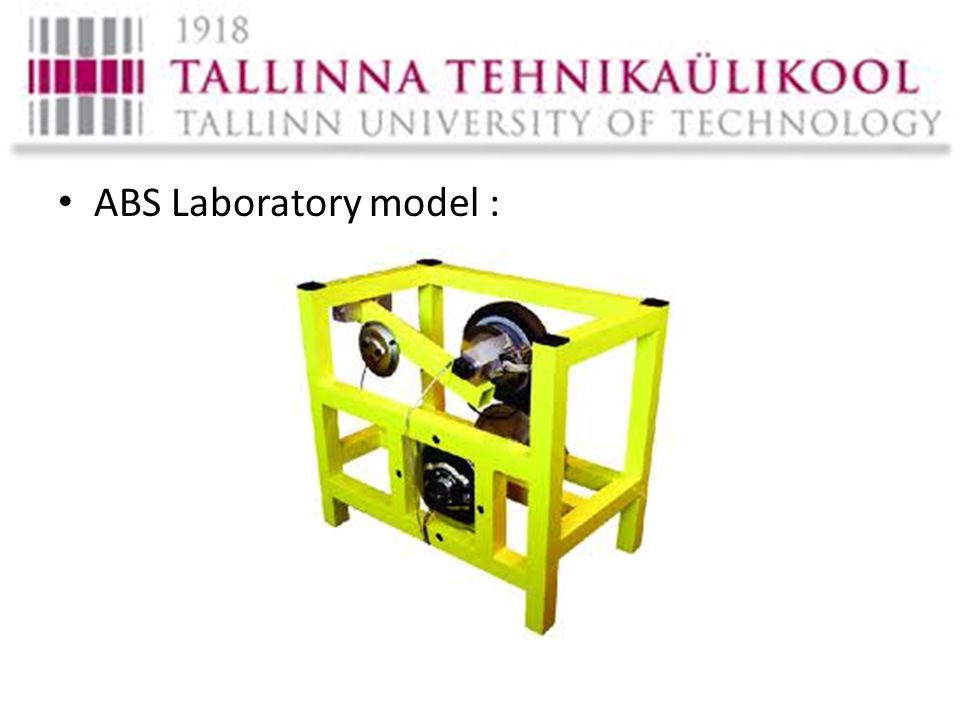 ABS Laboratory model :