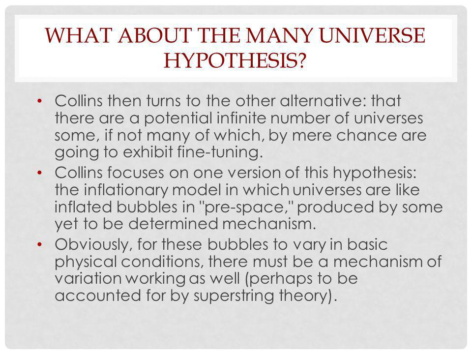 WHAT ABOUT THE MANY UNIVERSE HYPOTHESIS.
