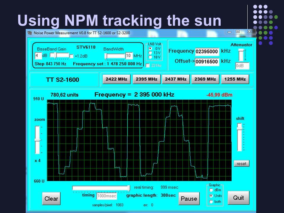 Using NPM tracking the sun
