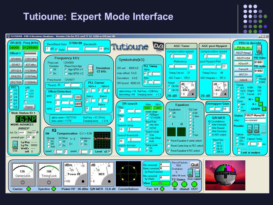 Tutioune: Expert Mode Interface