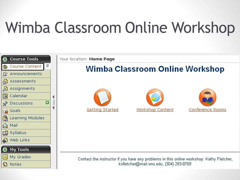 Wimba Classroom Online Workshop ACM SIGUCCS FALL CONFERNCE