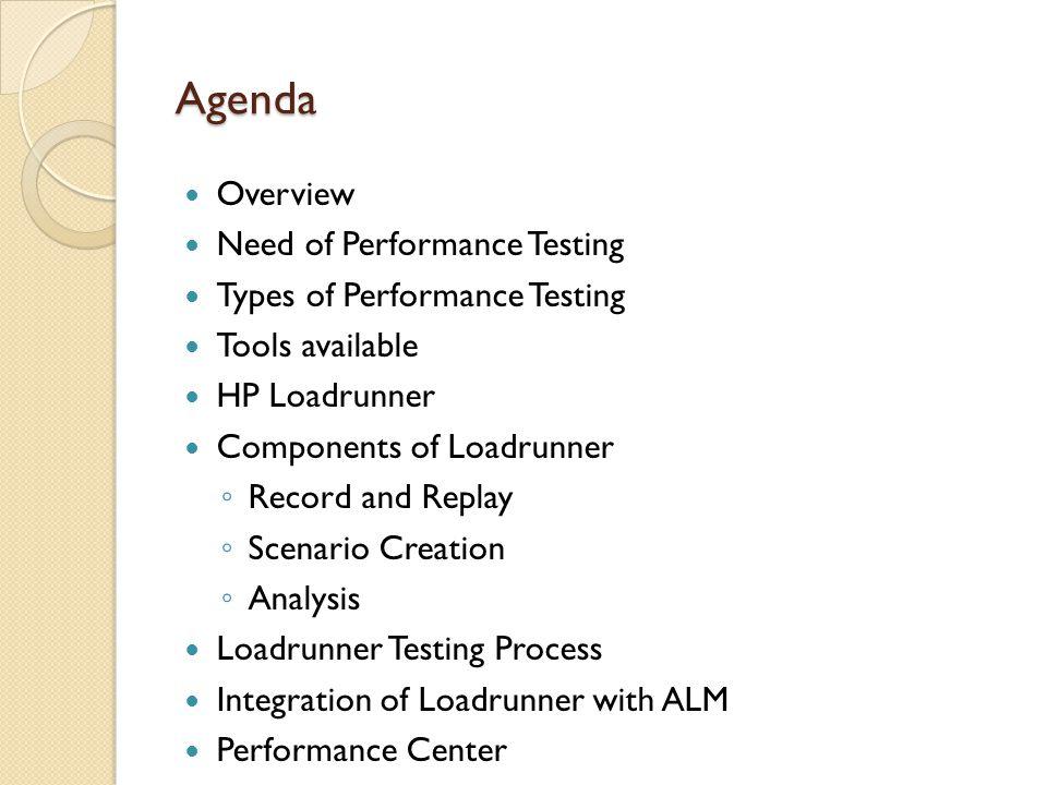 Loadrunner Testing Process – Controller (Run)