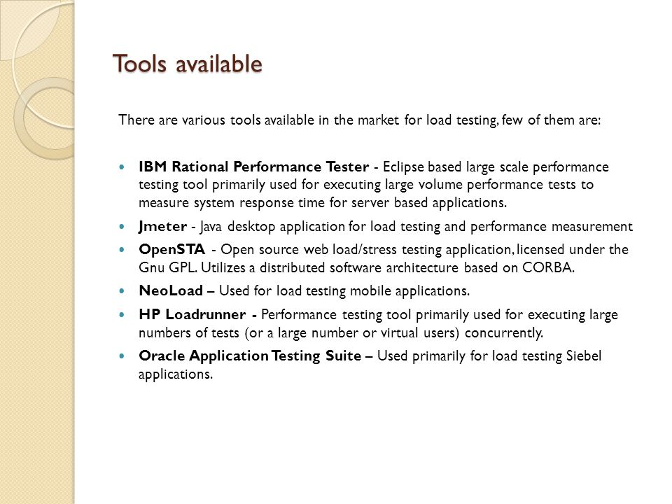 HP Loadrunner HP LoadRunner load tests an application by emulating an environment in which multiple users work concurrently.