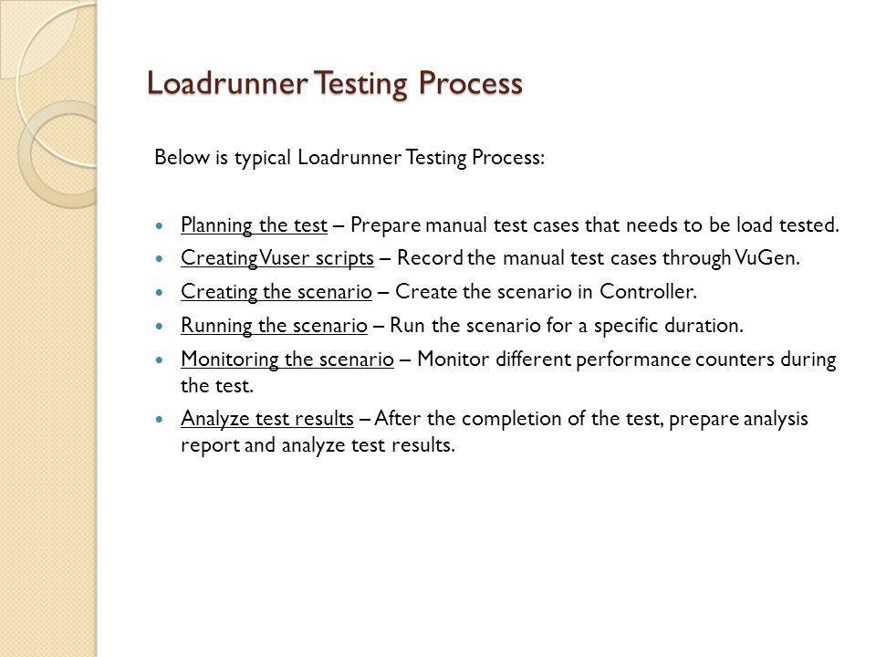 Loadrunner Testing Process - VuGen