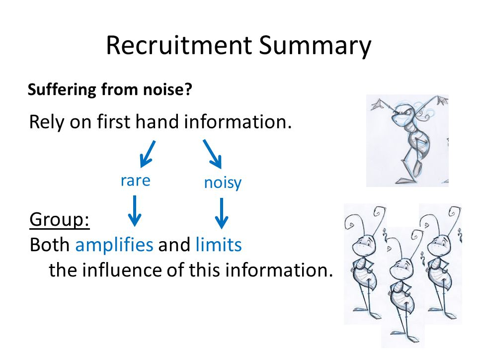 Recruitment Summary Rely on first hand information.