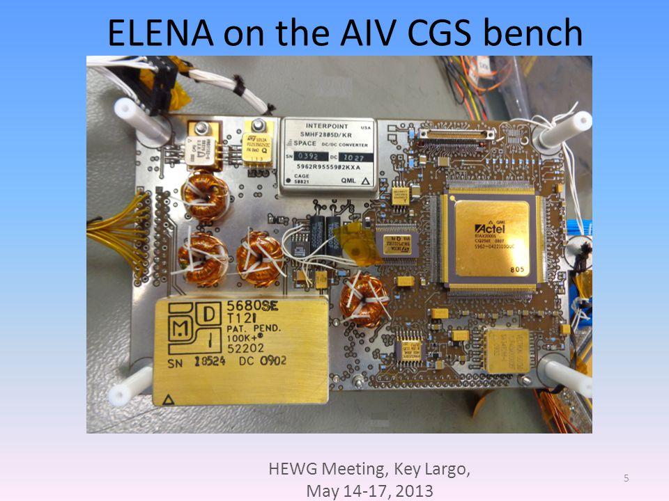 HEWG Meeting, Key Largo, May 14-17, 2013 6 ELENA box
