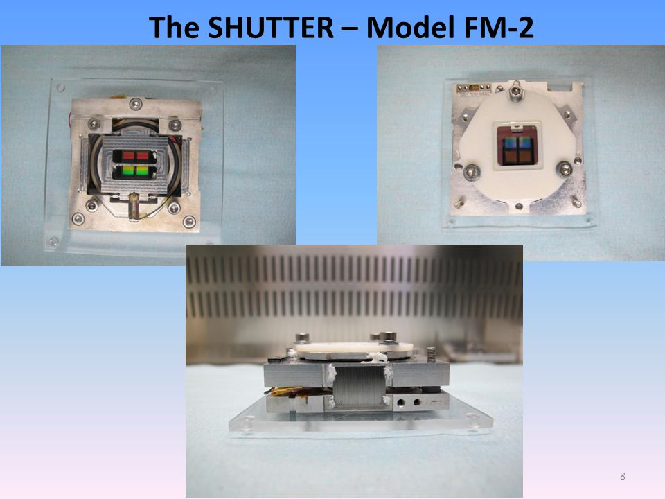 HEWG Meeting, Key Largo, May 14-17, 2013 8 The SHUTTER – Model FM-2