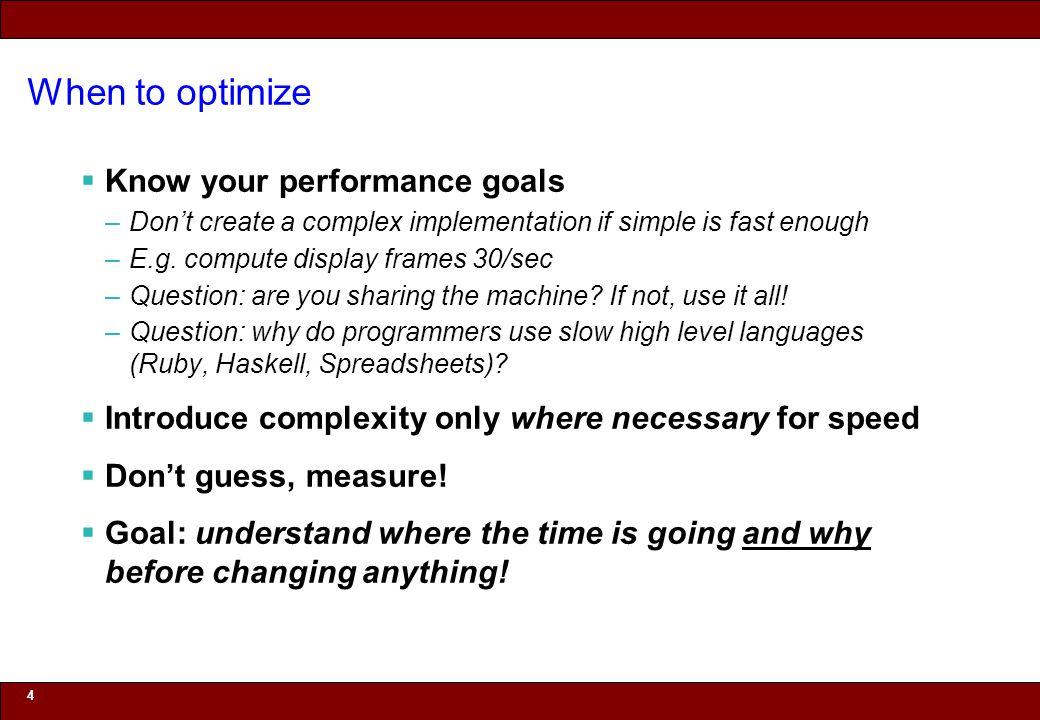 © 2010 Noah Mendelsohn What inhibits compiler optimization.