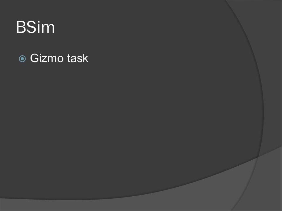 BSim Gizmo task