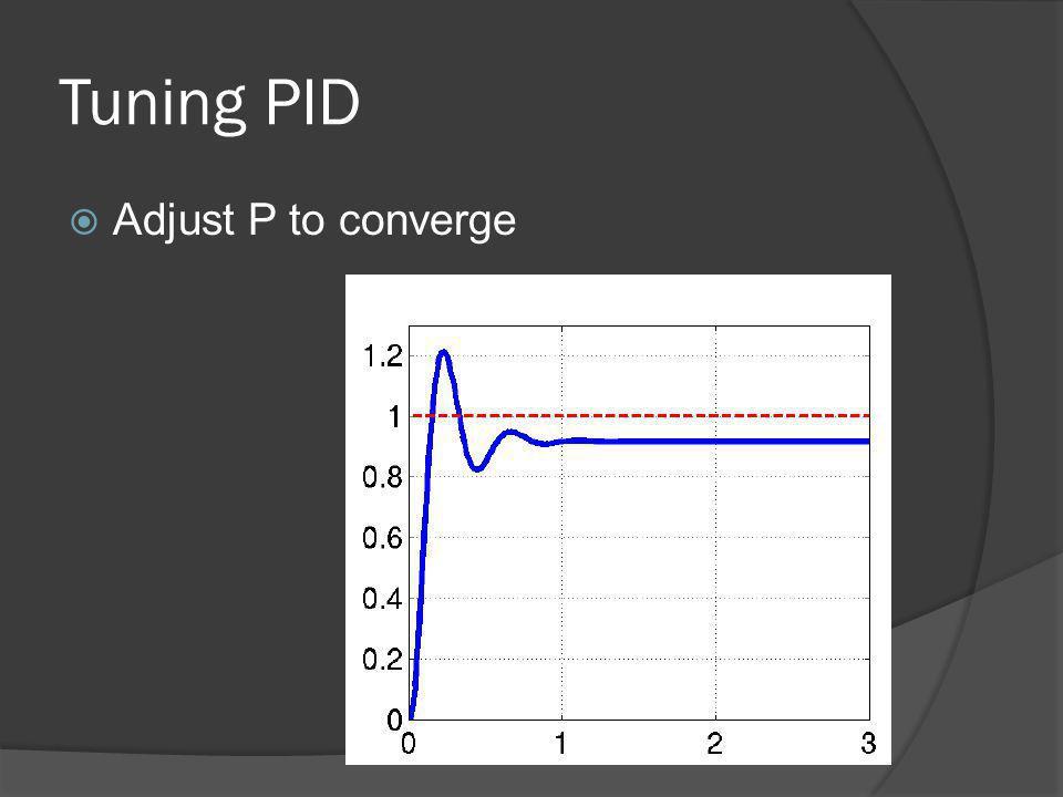 Tuning PID Adjust P to converge