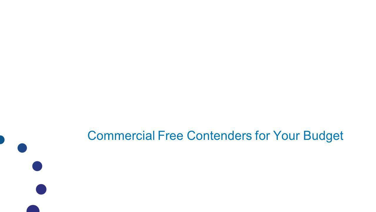 Commercial Free Contenders for Your Budget