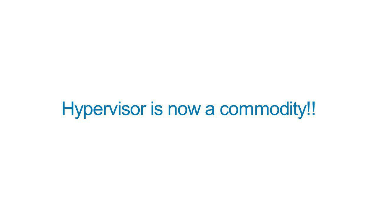 Hypervisor is now a commodity!!