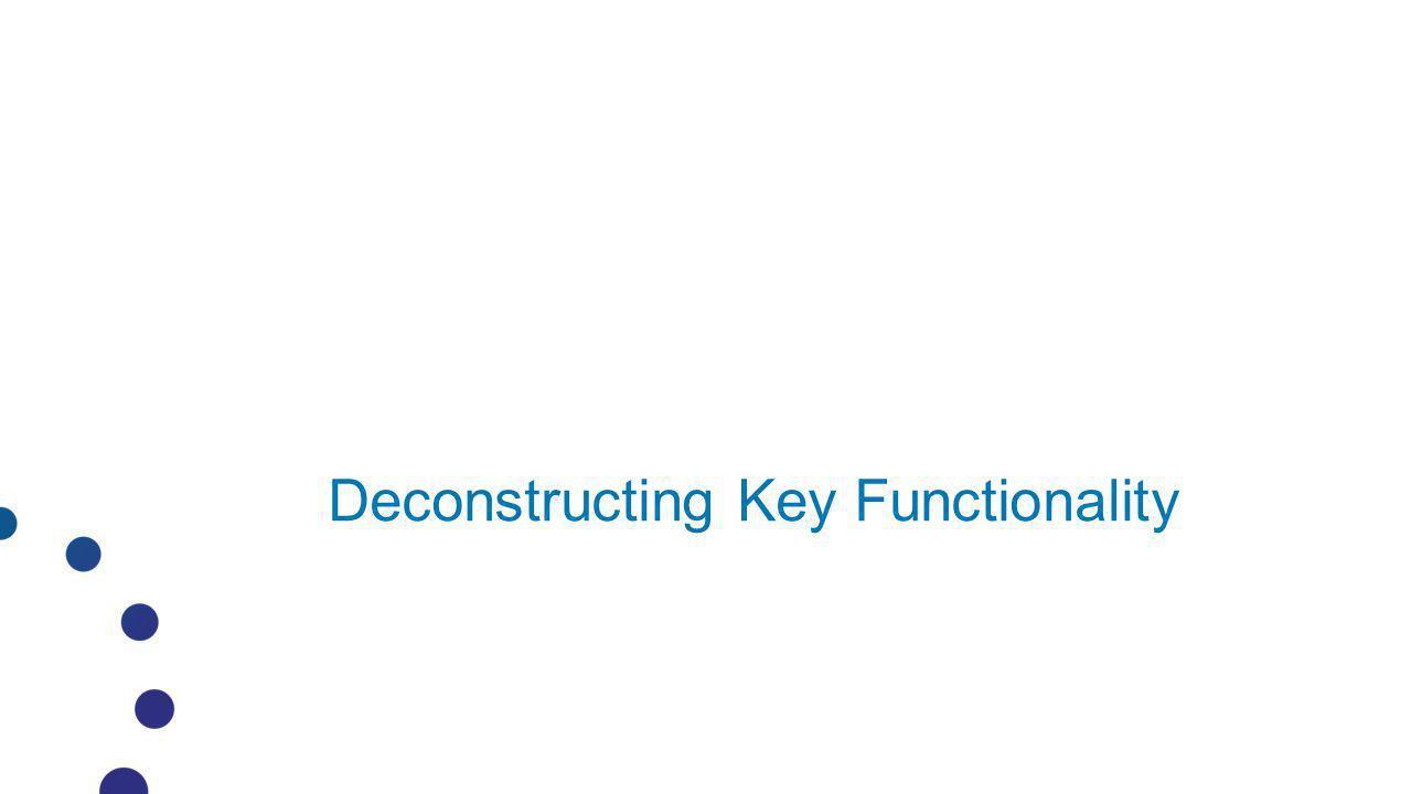Deconstructing Key Functionality