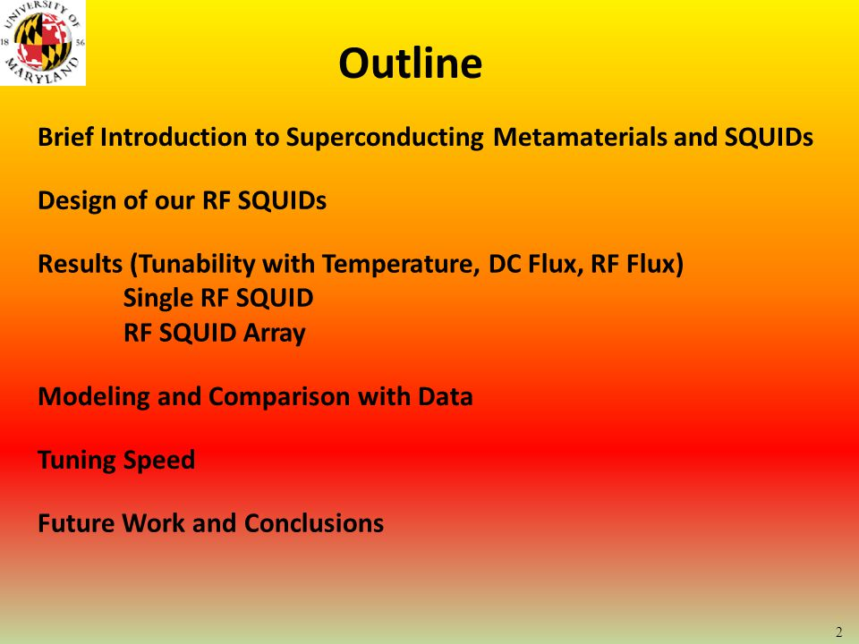 13 Single-SQUID Tuning with DC Magnetic Flux Comparison to Model RF power = -80 dBm, @6.5K Maximum Tuning: 80 THz/Gauss @ 12 GHz, 6.5 K Total Tunability: 56%
