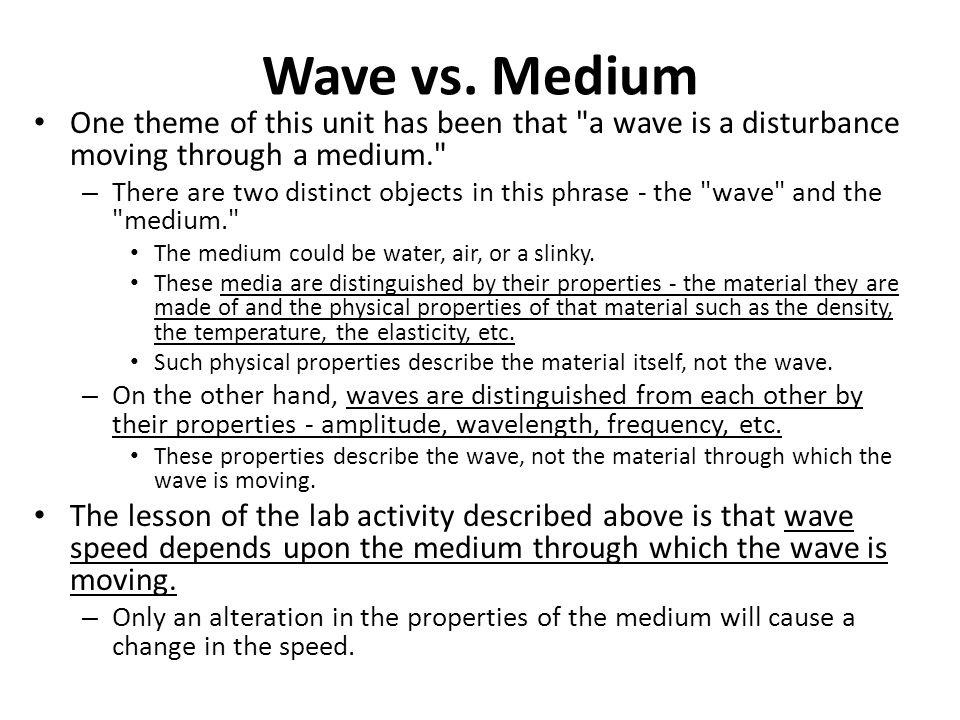 Wave vs.