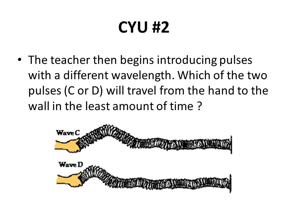 CYU #2 The teacher then begins introducing pulses with a different wavelength.